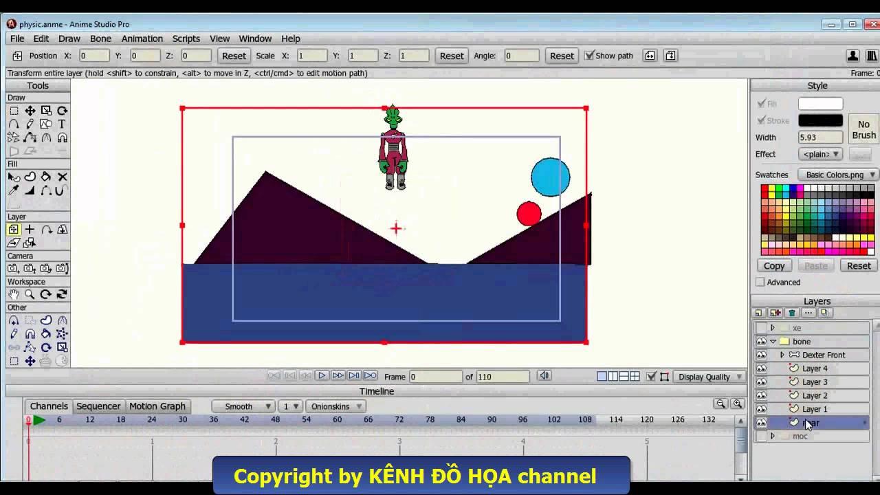 Hướng dẫn làm phim hoạt hình 3D với Anime Studio Pro – Bài 8