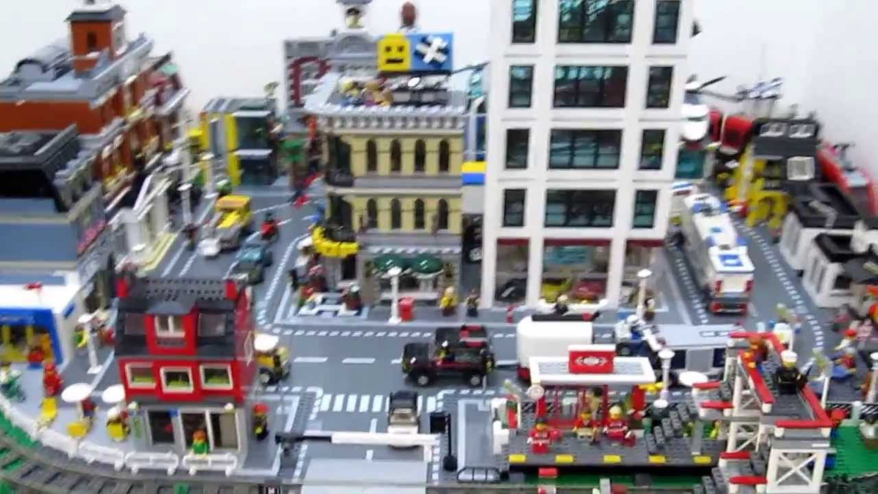 my lego citytown layout video 2 running train youtube