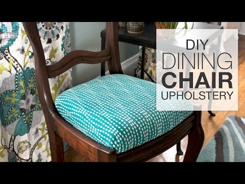 how to reupholster dining chairs diy tutorial youtube rh youtube com