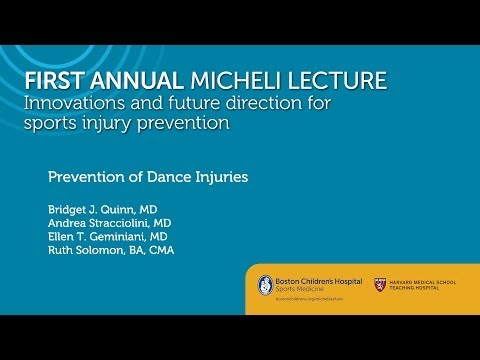 Prevention of Dance Injuries Sports Medicine Division Boston Children's Hospital
