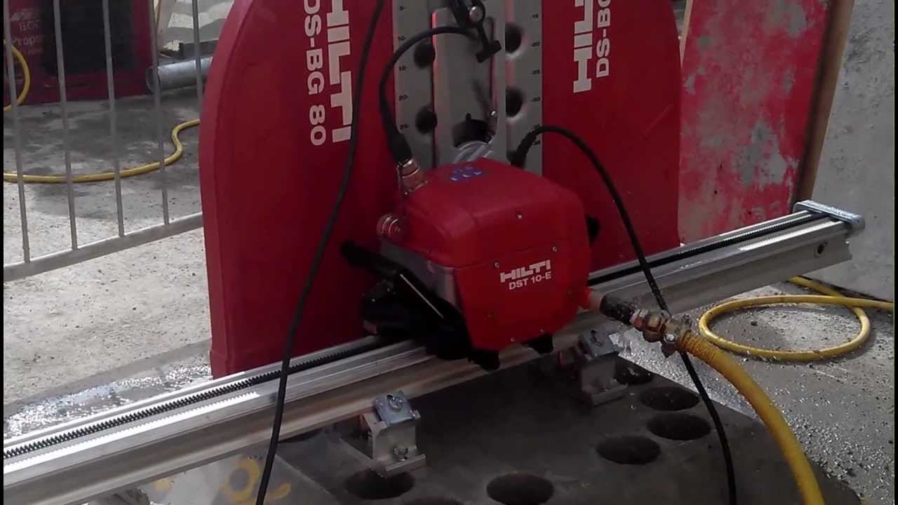 Hilti Dst 10 E Diamond Wall Saw Youtube