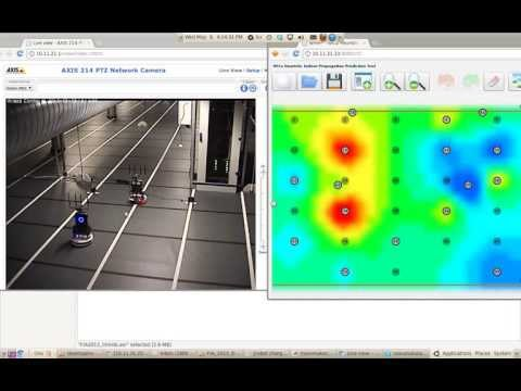 Building a radio environment map for tracking a moving inverfering robot
