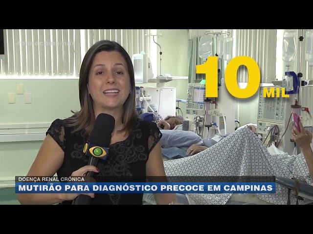 Doença renal crônica: mutirão para disgnóstico precoce em Campinas