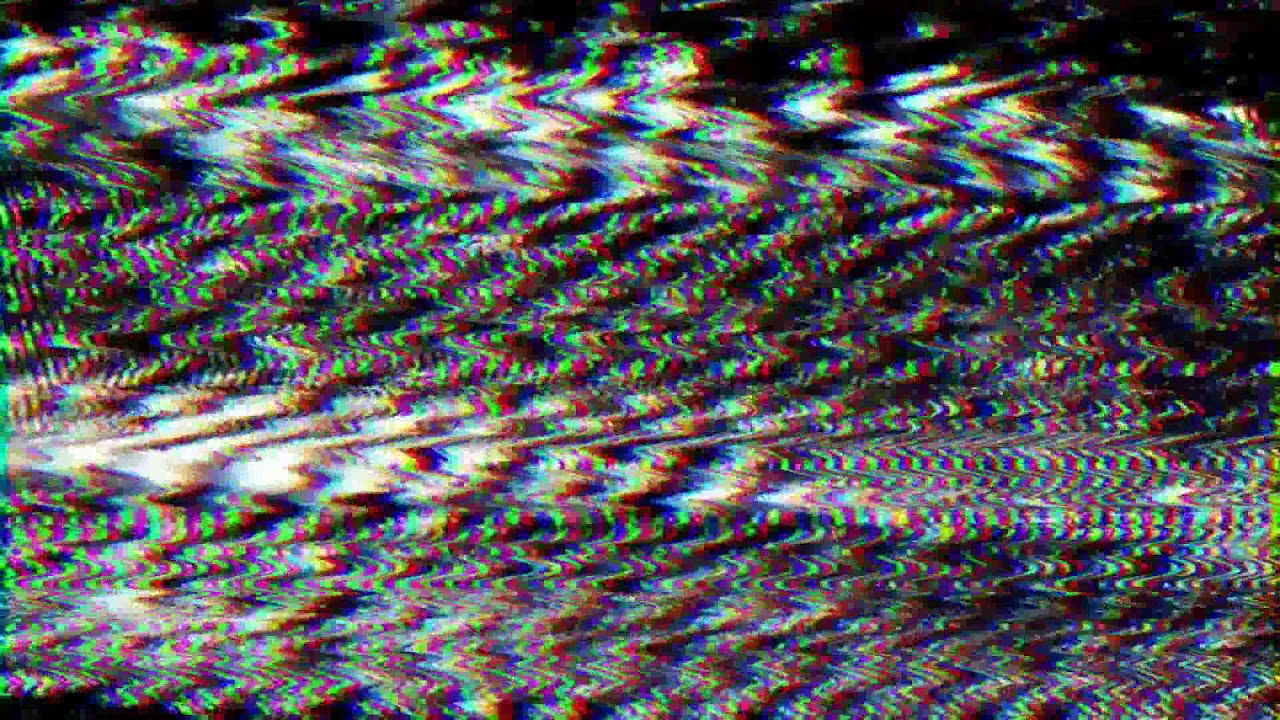 Static TV Interference Glitch - RGB 3D Effect