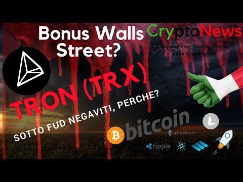 Tron sotto -50% in 7 Giorni? Cryptomarket aspettando Wall Street Bonus??