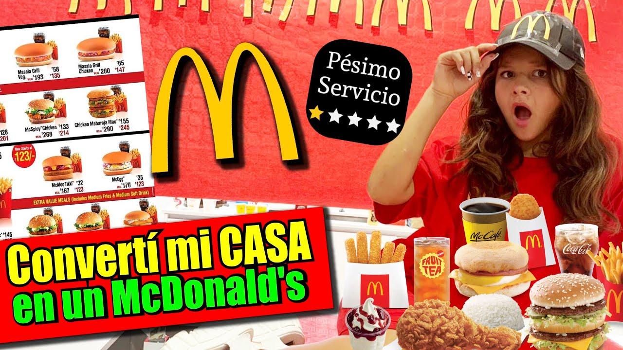 🍔 Convertí mi CASA en un McDonald's 🥤🍟- Reto Extremo