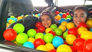 Esma and Asya  Ball pool fun kid video