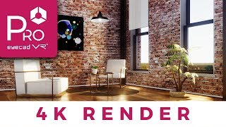 Make Awesome and Realistic 4K Render in one click  Eyecad VR Pro
