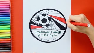 How to draw and color Egypt National Football Team Logo