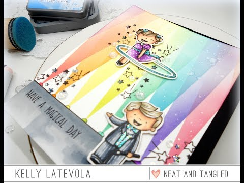 Making Magic and a Rainbow Lights Background with Kelly Latevola