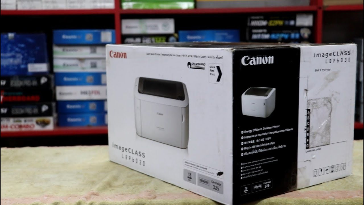 Máy in laser trắng đen Canon LBP6030W in Qua Wifi Chính Hãng