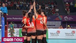Bóng chuyền nữ ASIAD 2018: Loạt tie-break giữa tuyển Việt Nam và Indonesia | VTC Now