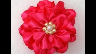 Qiuck and Easy Fabric Flower, Tutorial, DIY, How to make