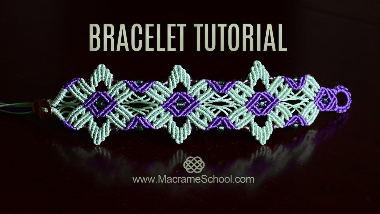 64f1349b739c Star Flower Bracelet Tutorial by Macrame School