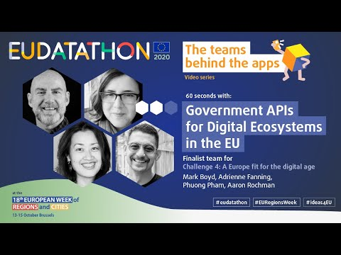 Meet the EU Datathon team behind Government APIs for Digital Ecosystems in the European Union