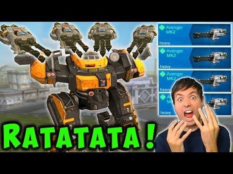 NEW Max Damage BEHEMOTH AVENGER Mk2 War Robots 5.3 Update Gameplay WR
