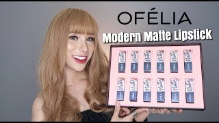 OFÉLIA MODERN MATTE LIPSTICK COLLECTION |SWATCHES + REVIEW|