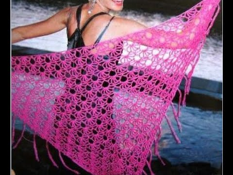 crochet shawl simplicity patterns 4 - YouTube