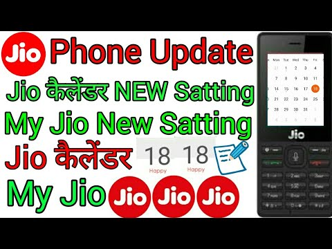 Download JIO phone my JIO New official update,jio phone me Jio calendar New official Satting update