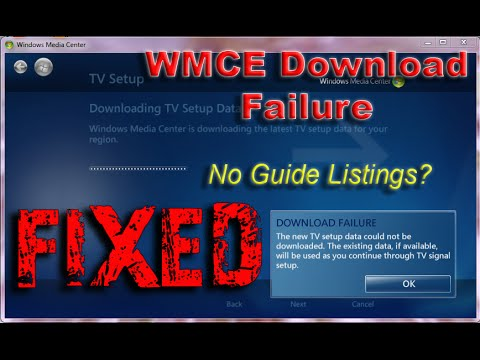 windows media center downloading tv setup data stuck