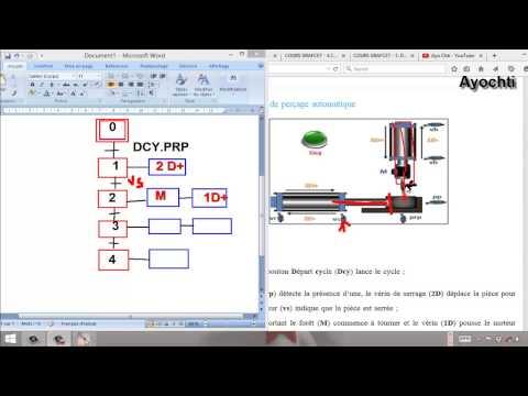 Exercice grafcet 6-2: Poste de perçage automatique  #17(بالعربية)