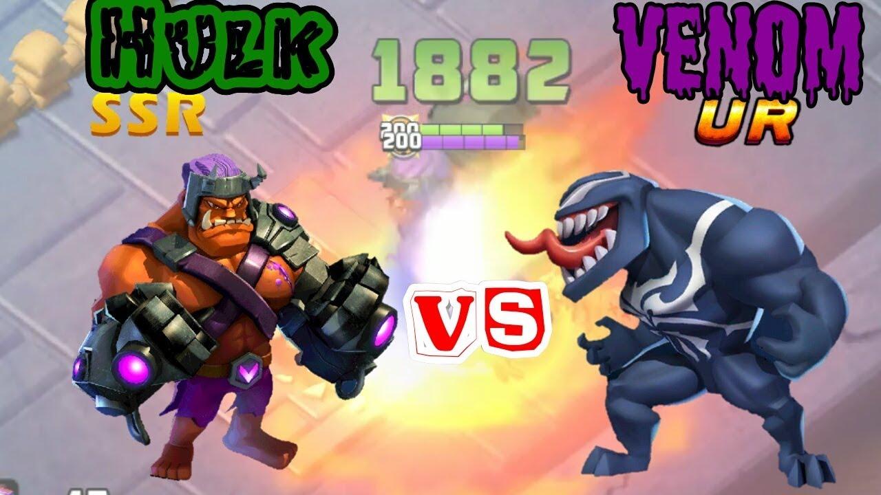 Download COZ2|Hulk Vs Venom_Clash of zombies 2 SSR Vs UR Hero