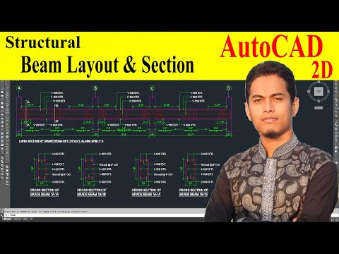 How to draw beam in autocad - YouTube