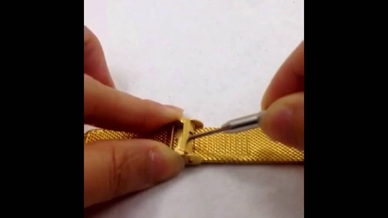 ae970bacbf9 How to Adjust Your Mesh Watch Band - YouTube