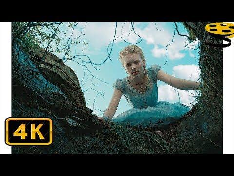 Алиса падает в Кроличью Нору. Погоня за Кроликом   Алиса в стране чудес (2010)   HD