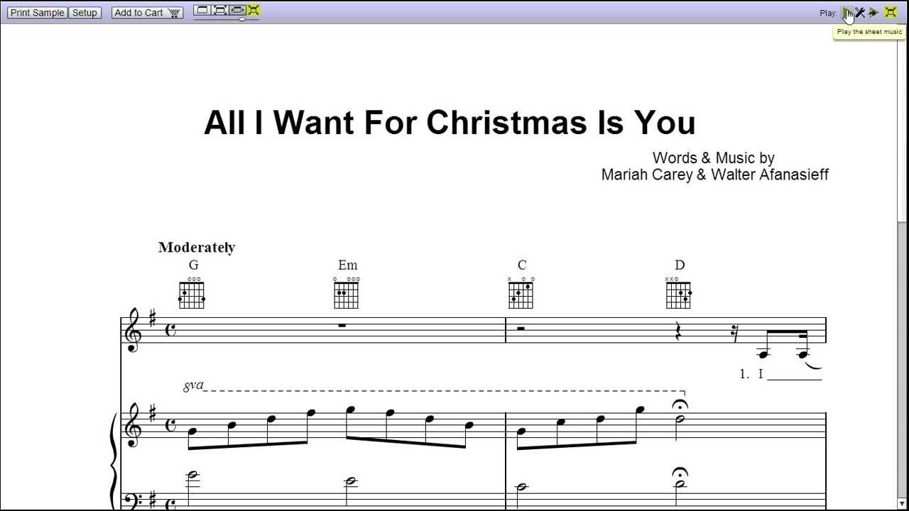"""All I Want for C... Mariah Carey Chords"