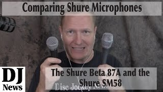 Testin #Shure Microphones: SM58 and Beta 87A Hand Held Mics