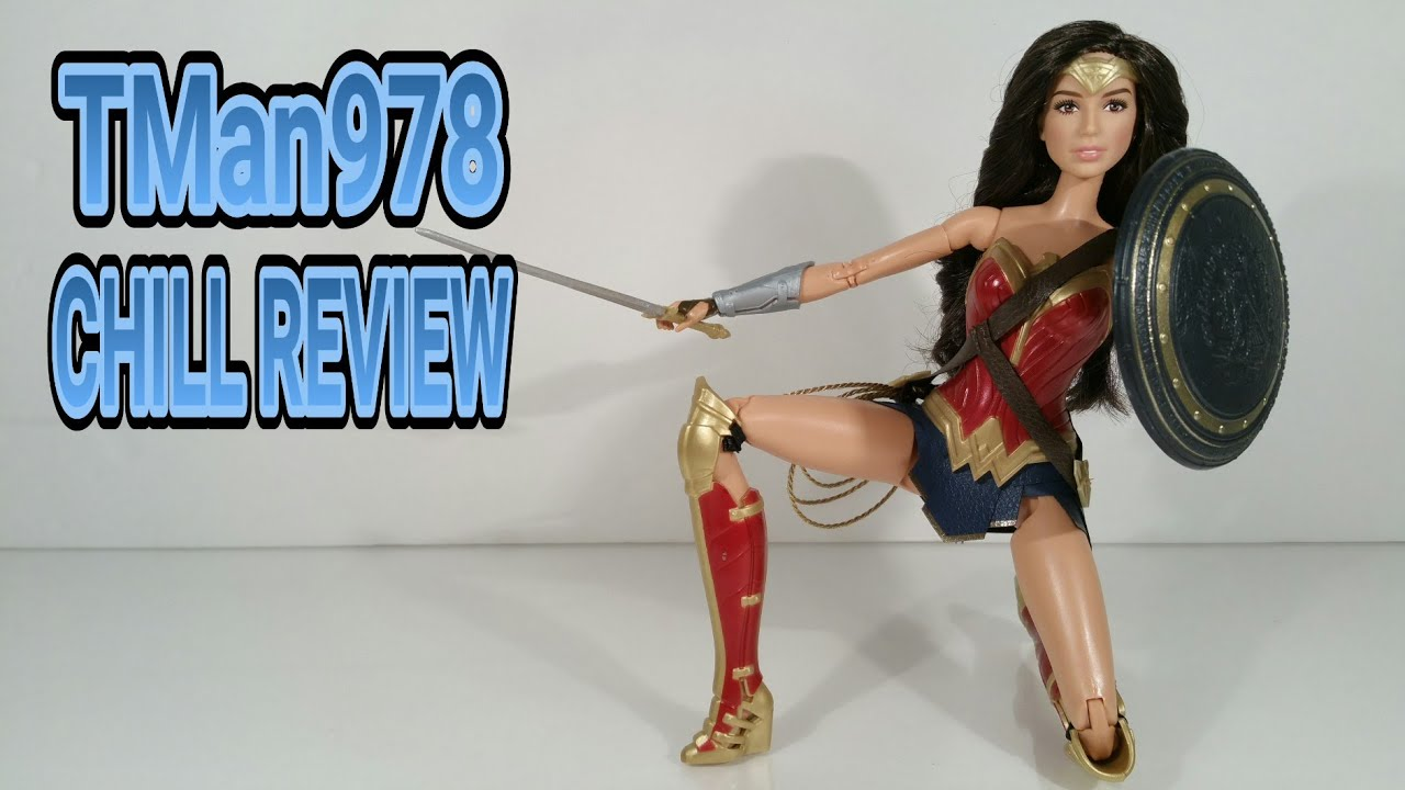 BATMAN V SUPERMAN: DAWN of JUSTICE WONDER WOMAN BARBIE Collector Black Label CHILL REVIEW - YouTube