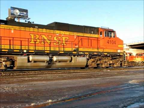 Two BNSF Trains in Aberdeen, SD