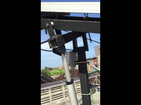uji coba solar tracker untuk panel surya