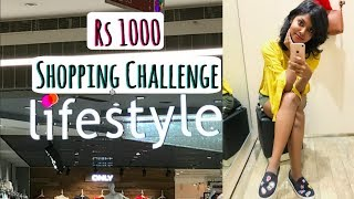 Rs 1000 Lifestyle Stores Shopping Challenge - Lifestyle Haul India | Try On Shopping Haul- AdityIyer