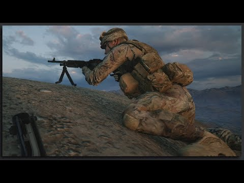 M240B Laying Down the Fire - Immersive 40v40 Squad Gameplay