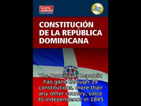 Constitution Of The Dominican Republic