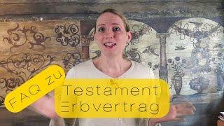 Was ist der Unterschied zwischen einem Testament und einem Erbvertrag?