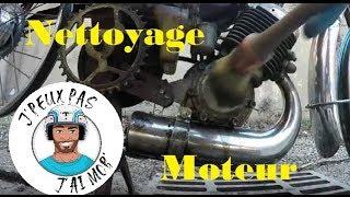 Nettoyer son moteur de mobylette