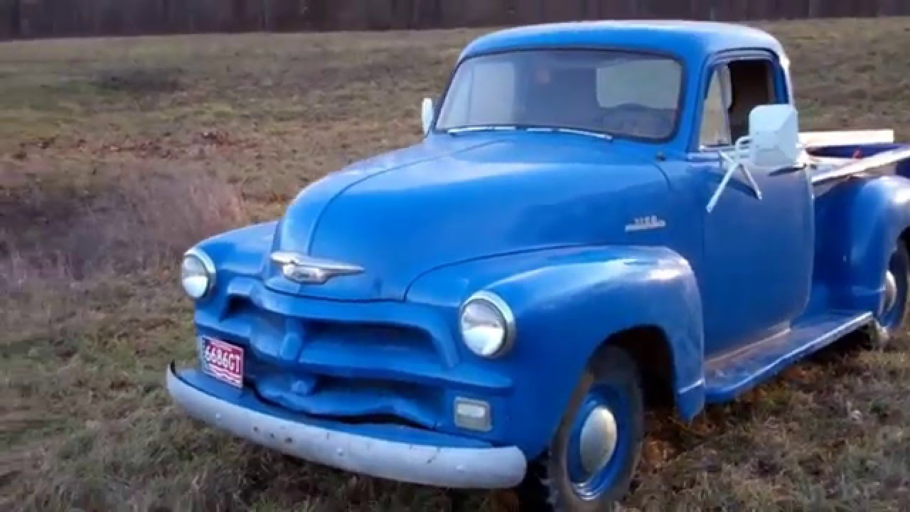 Barn Find 1954 Chevy 3100 Hydramatic Pickup Truck Youtube Chevrolet