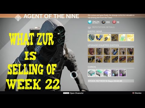 Destiny :Location and  What Zur Is selling of week 22