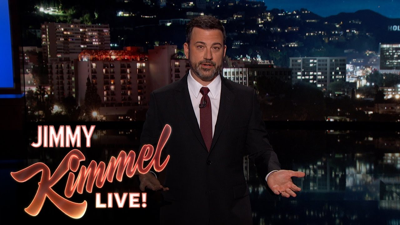 Taking Jimmy Kimmel's lecture to heart