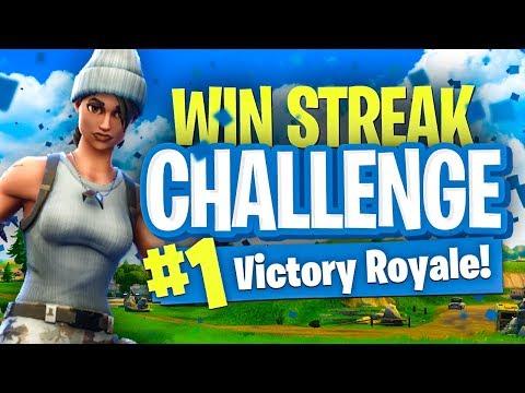 WIN STREAK CHALLENGE! - Fortnite Battle Royale