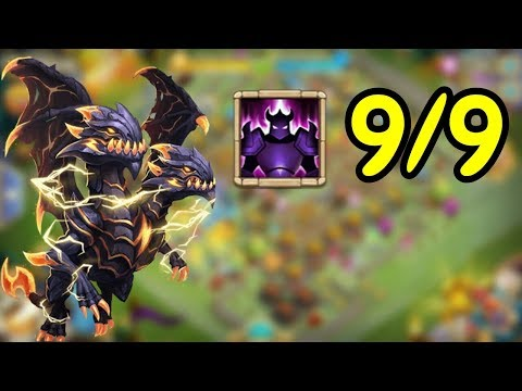 Demogorgon L 9/9 Wicked Armor In Action L Castle Clash