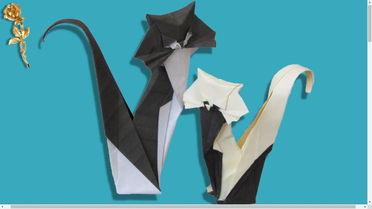 Origami chat youtube - Origami tete de chat ...