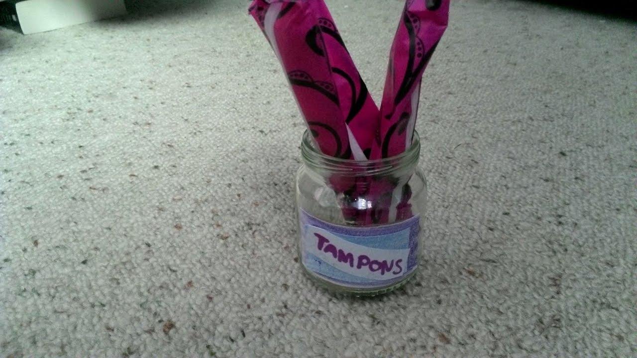 Cute Diy Tampon Storage Idea