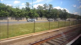 Washington DC Metro Ride - Orange Line - From W. Falls Church to Ballston-MU, USA