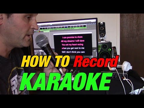 How To Record Karaoke While Watching And Singing Along
