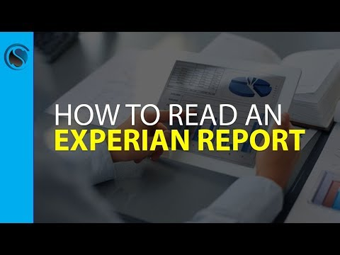 How To Read An Experian Report