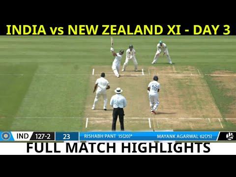 Highlights: India Vs New Zealand XI Day 3 Highlights 2020